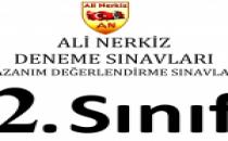2. Sınıf 1. Türkiye Geneli Kazanım Değerlendirme Sınavı – Ali Nerkiz