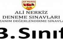 3. Sınıf 1. Türkiye Geneli Kazanım Değerlendirme Sınavı- Ali Nerkiz