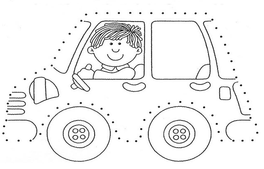 1 Sınıf çiz Boya Etkinlikleri Araba Okul Etkinlikleri