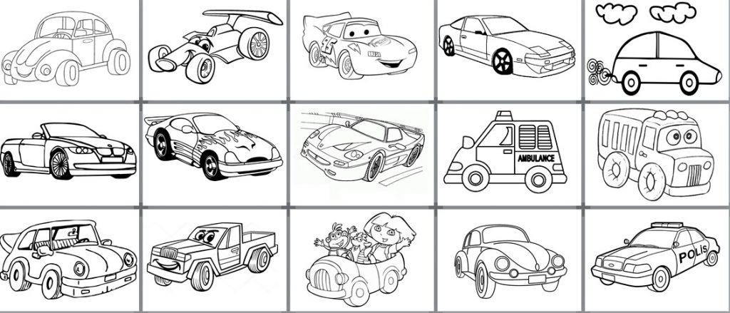 Araba Boyama Sayfaları Okul Etkinlikleri Eğitime Yeni